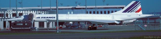 Eine schon lange außer Dienst gestellte Concord von Airfrance, auf dem Airbus-Gelände in Toulouse Blagnac.