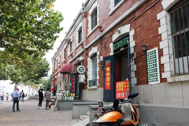 Eins der niedrigeren Gebäude in Tianjins Innenstadt