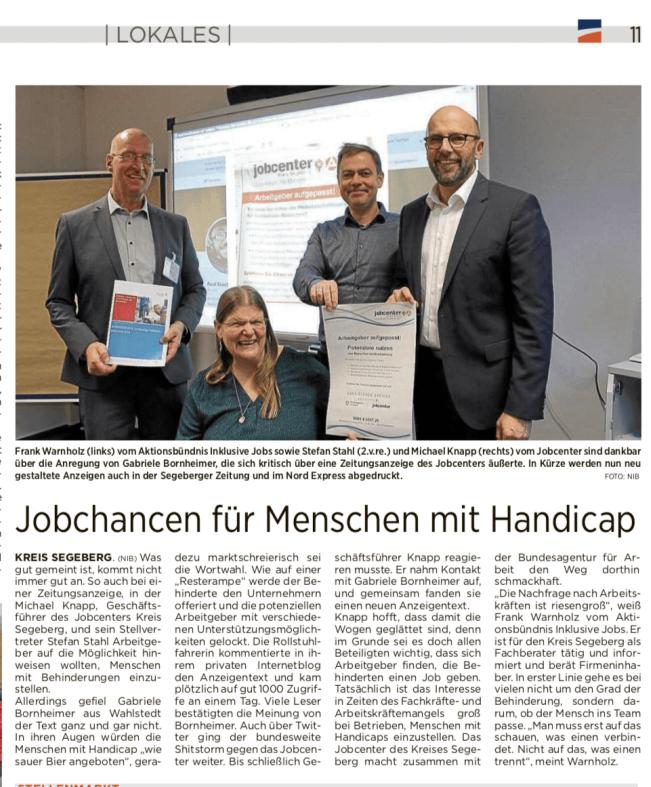 Artikel Nordexpress, 19.12.2018